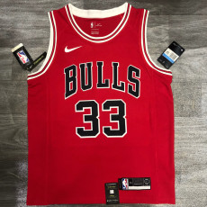 Bulls PIPPEN #33 Red Top Quality Hot Pressing NBA Jersey