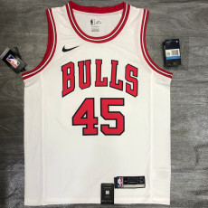 Bulls JDRDAN #45 White Top Quality Hot Pressing NBA Jersey