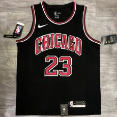 Bulls Jordan #23 Black Top Quality Hot Pressing NBA Jersey