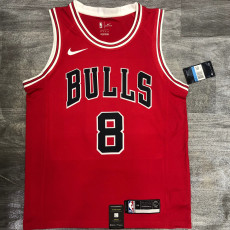 Bulls LAVINE #8 Red Top Quality Hot Pressing NBA Jersey