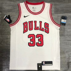 Bulls PIPPEN #33 White Top Quality Hot Pressing NBA Jersey
