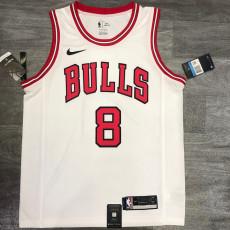 Bulls LAVINE #8 White Top Quality Hot Pressing NBA Jersey