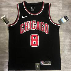 Bulls LAVINE #8 Black Top Quality Hot Pressing NBA Jersey