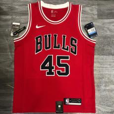 Bulls JDRDAN #45 Red Top Quality Hot Pressing NBA Jersey