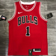 Bulls ROSE #1 Red Top Quality Hot Pressing NBA Jersey