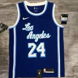 Lakers BRYANT #24 Blue Top Quality Hot Pressing NBA Jersey