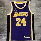 Lakers Jordan BRYANT #24 Purple Top Quality Hot Pressing NBA Jersey