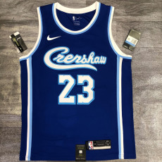Lakers James #23 Blue Top Quality Hot Pressing NBA Jersey