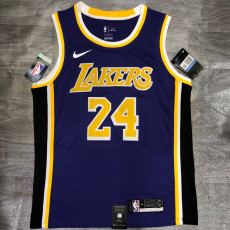 Lakers BRYANT #24 Crew Neck Purple Top Quality Hot Pressing NBA Jersey