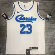 Lakers James #23 WhiteTop Quality Hot Pressing NBA Jersey
