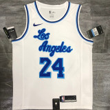 Lakers BRYANT #24 WhiteTop Quality Hot Pressing NBA Jersey