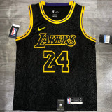 Lakers BRYANT #24 Crew Neck Black Top Quality Hot Pressing NBA Jersey