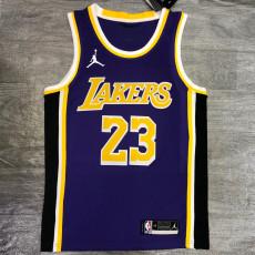 Lakers Jordan James #23 Purple Top Quality Hot Pressing NBA Jersey