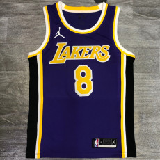 Lakers Jordan BRYANT #8 Purple Top Quality Hot Pressing NBA Jersey