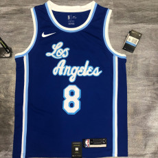 Lakers BRYANT #8 Blue Top Quality Hot Pressing NBA Jersey