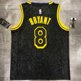 Lakers BRYANT #8 Crew Neck Black Top Quality Hot Pressing NBA Jersey