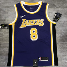 Lakers BRYANT #8 Crew Neck Purple Top Quality Hot Pressing NBA Jersey