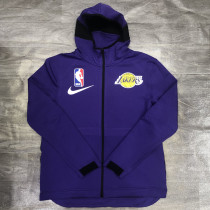 2021 NBA LAKERS Purple Top Quality Zip Hoodie Tracksuit