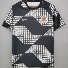 2021 Corinthians Away Black Fans Soccer Jersey