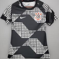 2021 Corinthians Away Black Women Soccer Jersey