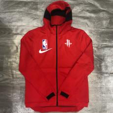 2021 NBA Rockets Red Top Quality Zip Hoodie Tracksuit