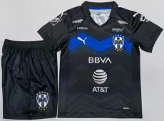 20-21 Monterrey Third Black Kids Soccer Jersey