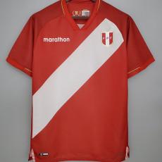 2021 Peru Away Red  Fans Soccer Jersey