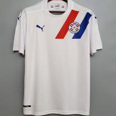 2021 Paraguay Away White Fans Soccer Jersey