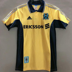 1998-1999 Marseille Away Yellow Retro Soccer Jersey