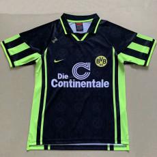 1996-1997 Dortmund Away Black Retro Soccer Jersey