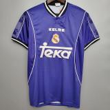 1997-1998 RMA Away Blue Retro Soccer Jersey