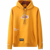 2021 LAKERS Aape Original Quality Yellow Hoody