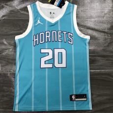 New Hornets Jordan HAYWARO #20 Blue Top Quality Hot Pressing NBA Jersey