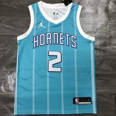 New Hornets Jordan BALL #2 Blue Top Quality Hot Pressing NBA Jersey
