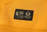 2021 LAKERS Aape Original Quality Yellow Hoody