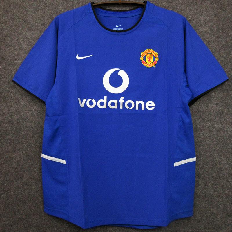 US$ 19.00 - 2002-2003 Man Utd Away Blue Retro Soccer Jersey - m ...