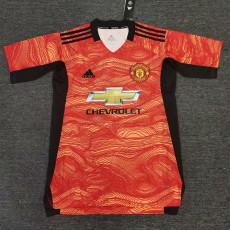 2021 Man Utd Orange Training Soccer Jersey