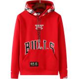2021 Bulls Aape Original Quality Red Hoody