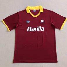1989-1990 Roma Home Retro Soccer Jersey