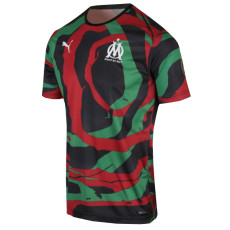 2021 Marseille 'OM  Africa'  Black  Green  Red Collectors Shirts