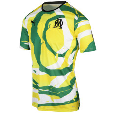 2021 Marseille 'OM  Africa' White Green Lime Collectors Shirts
