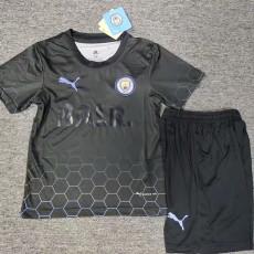 2021 Man City BALR Black Kids Soccer Jersey