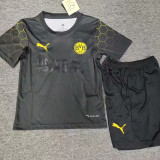 2021 Dortmund BALR Black Kids Soccer Jersey