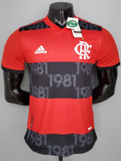 21-22 Flamengo Home Player Version Soccer Jersey