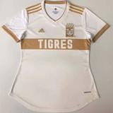 20-21 Tigres UANL Away White  Women Soccer Jersey