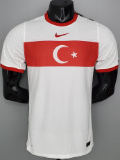 2020 Turkey Away White Player Version Soccer Jersey