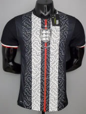 2021 England  Exposure Edition Black Player Version Soccer Jersey