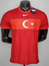 2020 Turkey Home Red Player Version Soccer Jersey