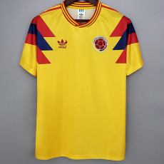 1990 Colombia Home Retro Soccer Jersey
