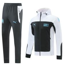 2021 Marseille White Hoodie Jacket Tracksuit